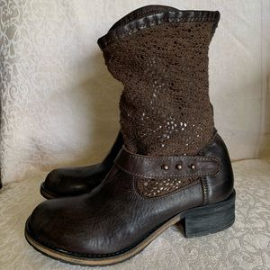 Free People Beau Crochet Slouch Booties Boots